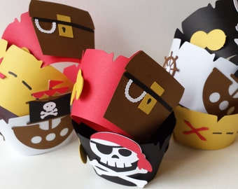 Pirate Party - Cupcake Wrappers  - Birthday Parties - Baby Showers