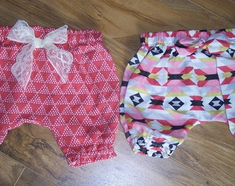 12-18 months organic cotton baby bloomers