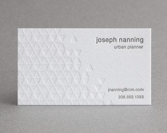 "150 Letterpress Business Cards - ""Diamonds"""