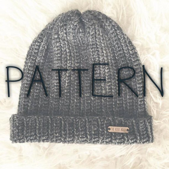 Free Crochet Pattern Beanie With Brim : Crochet Fold Over Brim Beanie PATTERN by TheHookNook12 on Etsy