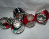 Vintage Glass Christmas Ornaments, Patriotic USA Lot