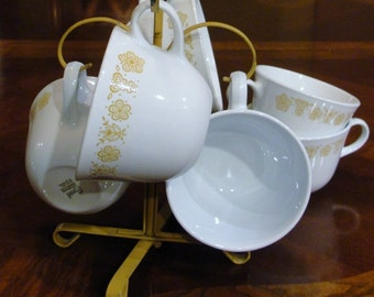Golden Butterfly Coffee Set by Corelle