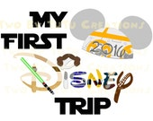 My First Disney Trip Star Wars Custom DIY Printable Image for Iron On Transfer Disney