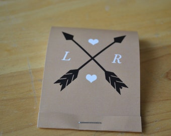 100 Seed Matchbooks - Forget-me-Knot Seed Wedding Favors---Cupid's Arrows