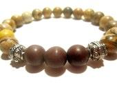 Men's Bracelet - Men's Bead Bracelet - Stretch Bracelet - Men's Jewelry - Jasper Gemstone