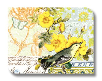 Bird and floral paper napkin for decoupage x 1 Belvedere . No 1276