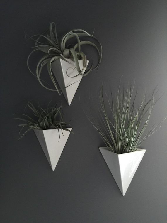 Pyramid Wall Hanging Planter Vertical Garden Modern By