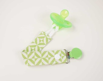 Green Prism pacifier clip