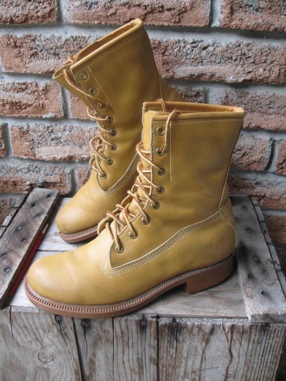 Vintage 1970 S Iconic Greb Kodiak Classic Boots Non Steel