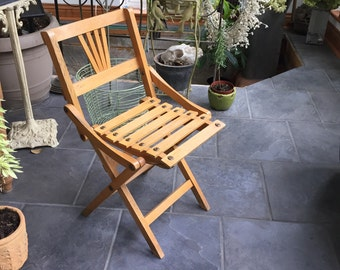 Vintage Folding Chair Childs Wooden Folding Chair Childs Camp Chair Beach Chair