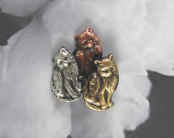 Kitten Brooch- Kitty Jewelry- Cat Jewelry- Cat Rescue