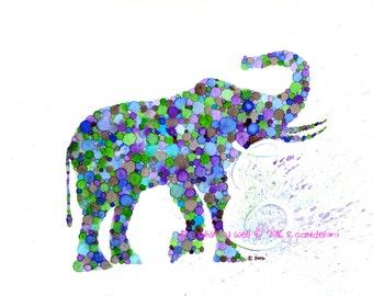 Original Watercolor Alphabet Art - Silhouette Watercolour - Custom Letter Art