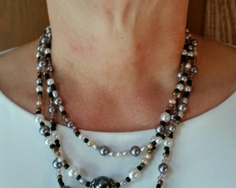 Pearl 3 Strand Necklace, Sophisticated and Gorgeous
