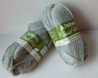 Yarn Sale  - Light Grey Heather Classic Wool DK Superwash by Patons