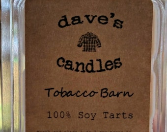 Tobacco Barn. 100% Soy Wax Tart