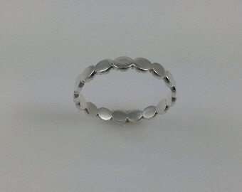 Sterling Silver Ring silver stacking rings Circles Rings Circles stacking rings Jewelry  Handmade
