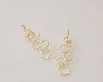 ON SALE Circles-Gold Circles Earrings gold  Earrings  Circles Earrings dangle earring