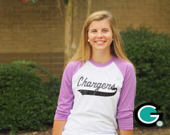 CUSTOM School Spirit Mascot Baseball T-Shirt -- Great way to show off your School Mascot!