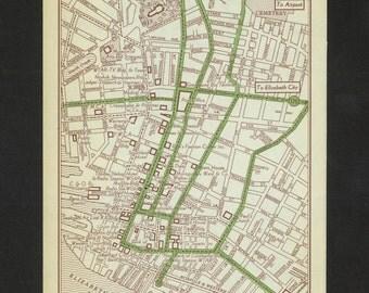 Vintage Map Norfolk Viriginia Original 1951