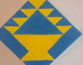 Barn Quilt Block - Yellow basket
