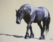Plodding On - Mounted Limited Edition Print