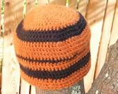 FOOTBALL Crochet Beanie Hat  Generic Team FAN