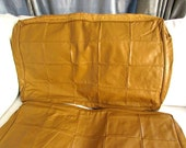 mid century modern leather chair cover / mid century leather pillow insert