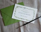 Olive Leaf Save the Date