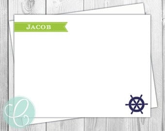 Boys Flat Note Cards- Set of 20