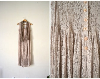 Vtg 90's Sheer Floral Jumpsuit/Dress