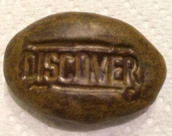 DISCOVER Pocket Stone - Ceramic - CAST IRON Art Glaze - Inspirational Art Piece