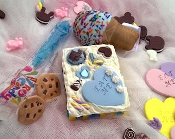 Hand Mirror Gift Set Cake Ice Cream Harajuku Frosting Desk Mirror #3
