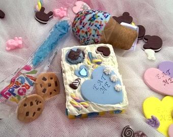 Hand Mirror Gift Set Cake Ice Cream Harajuku Frosting Desk Mirror #3