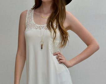 Hi-lo Tank Pocket in Ivory