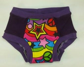 Rainbow Peace with Purple Knit Anibums Knit Underwear