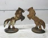 Horse Bookends Doorstop Pair Cast Iron Horse Door Stop Book Ends