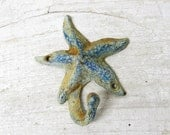Starfish Hook  for Your Beach House - Great To Hang That Wet Towel On - Rusty