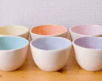 Six tea bowls