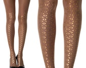 Skin sheer| Gold Printed Tights | designed tights | Party tights| winter accessories | free shipping| New Collection 2015-2016| 20F241-SG