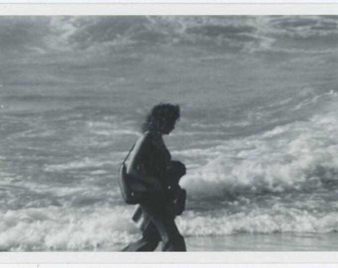 Vintage Snapshot Photo: Beach Silhouettes, 1970s (69500)