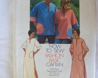 Simplicity 6835, Craftan or Pullover Top, Men's or Misses' Top