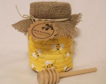 Mason Jar Koozies Honey Bees
