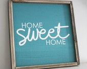 Home Sweet Home Wood Sign Wall Art Home Decor Rustic Home Decor Modern Rustic Sign
