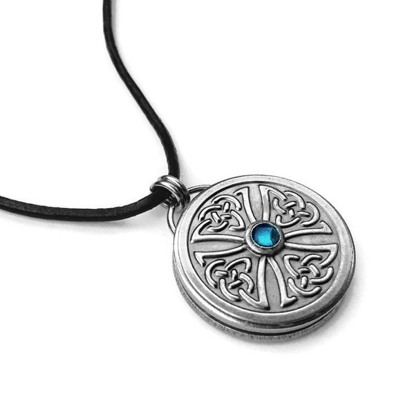 items similar to celtic cross mens necklace stainless. Black Bedroom Furniture Sets. Home Design Ideas