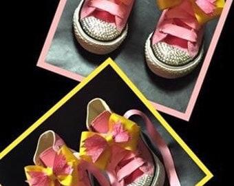 Pink Lemonade Converse with Swarvoski Crystals
