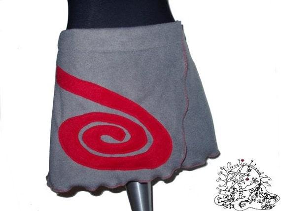 Fleece SKIRT * LooP *  XS/S/ 32-36 wrapskirt * Spiral *