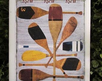 Rowing Oars Birthday Card - FREE SHIPPING