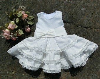 Baby baptism dress. Infant pageant dress. Baby flower girl lace dress,baby wedding outfit. Baby girl christening dress. Baby linen clothes
