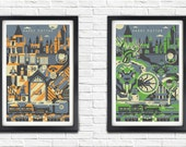 All 7 Harry potter posters - BUY 6 get one FREE