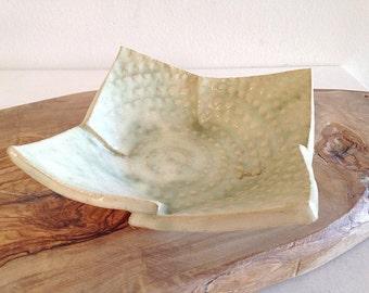 Square Pottery Destash Dish Plate Boho Decor